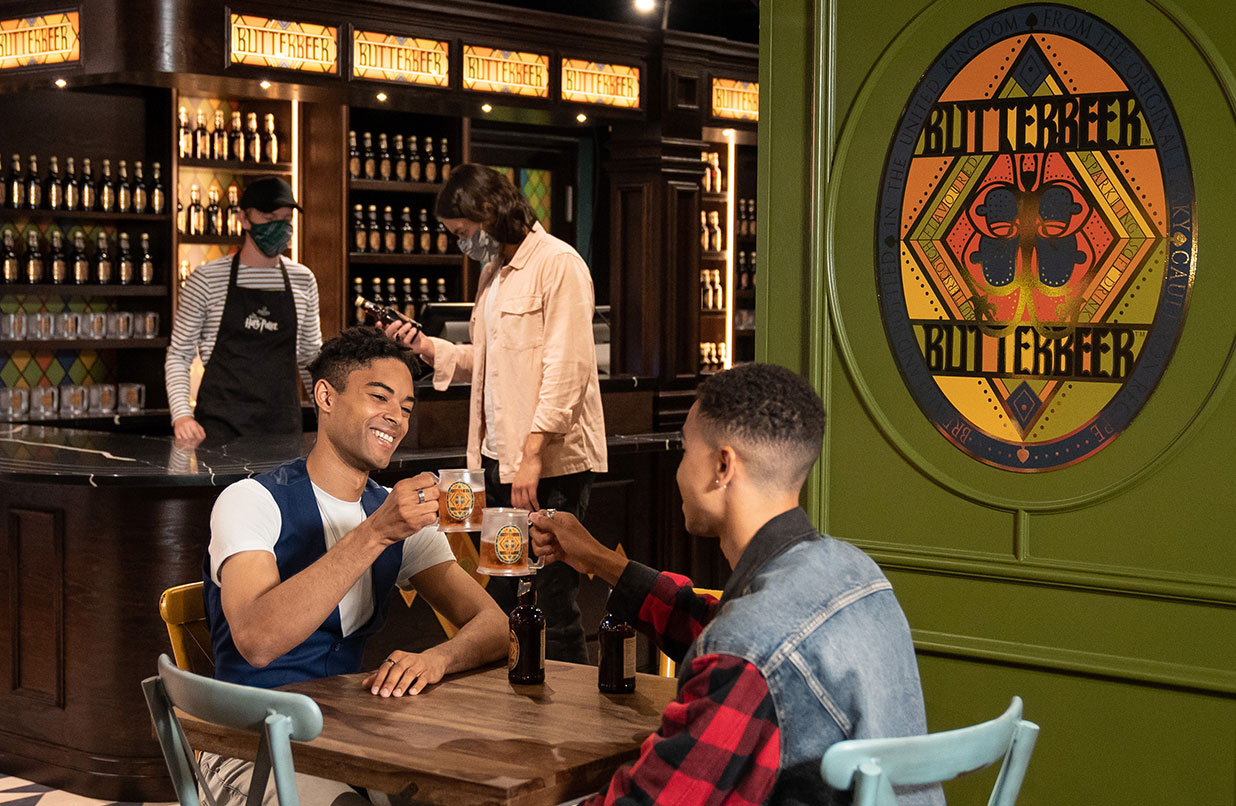 The Harry Potter Photographic Exhibition - bottled Butterbeer bar