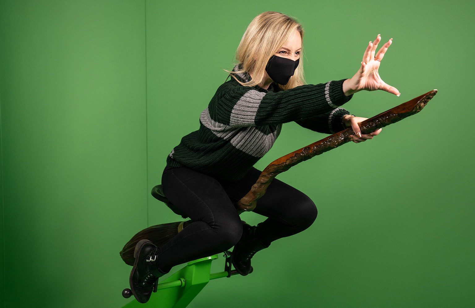 The Harry Potter Photographic Exhibition - Green screen broomstick photo opportunity